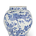 A blue and white jar, 17th century