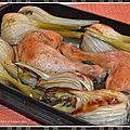 Cuisses de poulet et fenouil rôtis