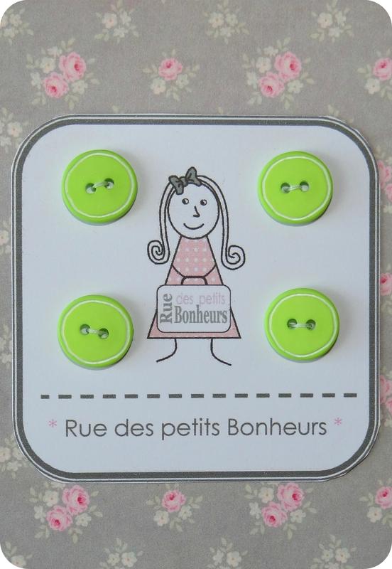 Bouton vert anis