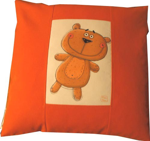 coussin GM nounours orange