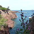 Randonnée littorale dans le var, de boulouris au dramont