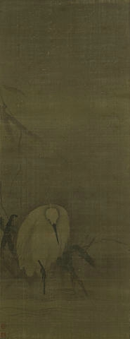 Attributed to Liang Kai (active c 1172-1204), White Egret