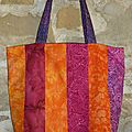 Sac batik rose orange violet recto S