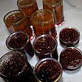 Et confitures de figues et prunes