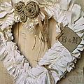 Coeur shabby personnalisé pour déco mariage