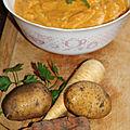 Mousseline de panais, carottes et pommes de terre