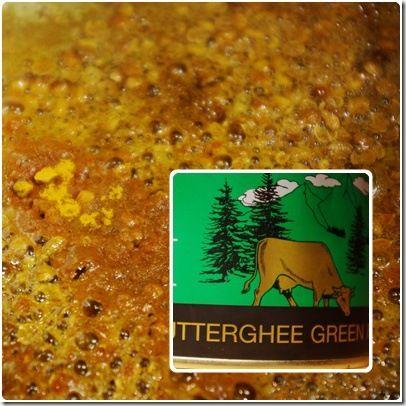 épices grillées et ghee