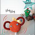 Cadeaux de naissance - Hochet ''Grandes Oreilles'' au Crochet - Ours - Fait-main Made in France (1)