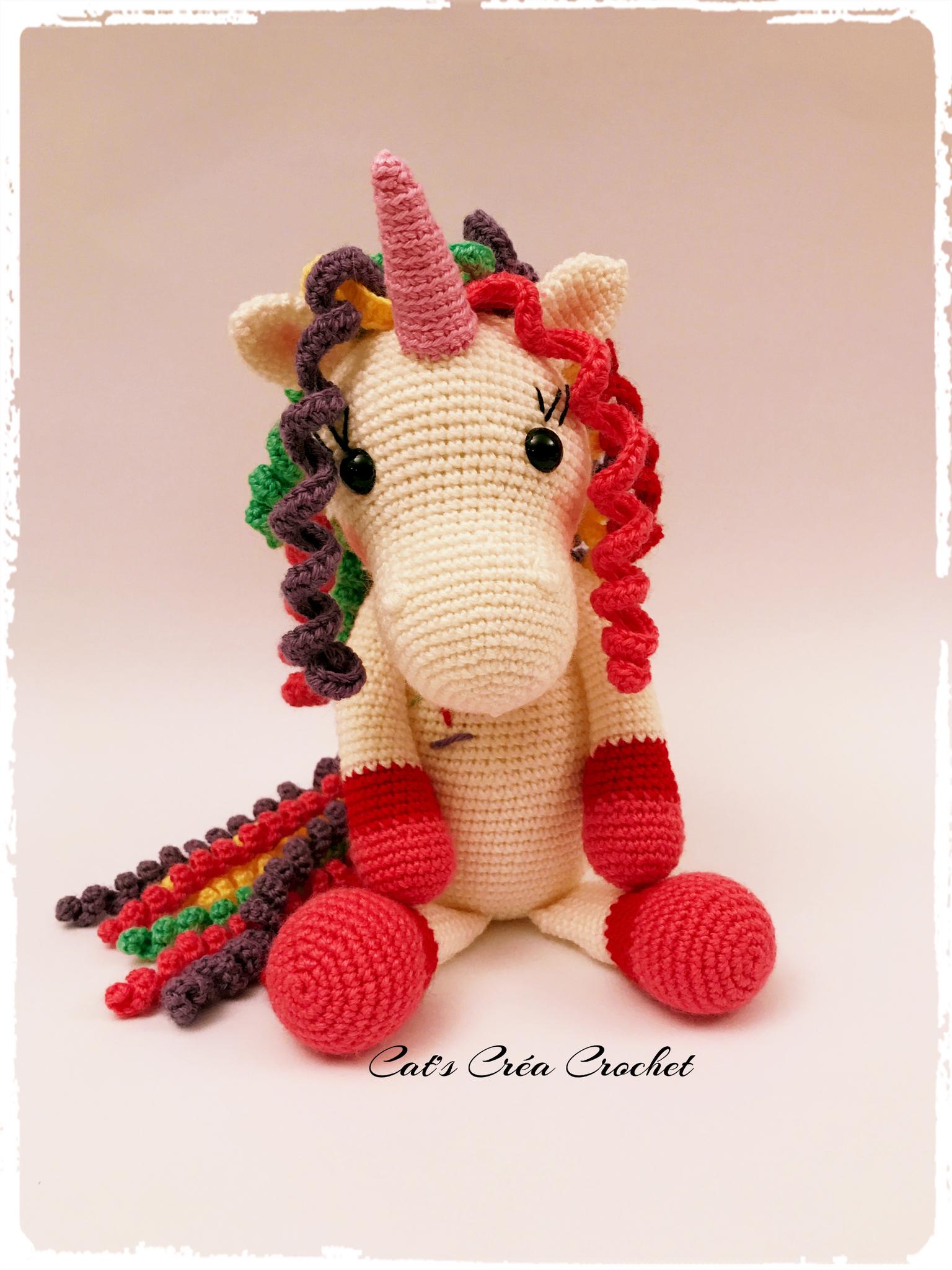 Licorne Au Crochet Cats Créa Crochet