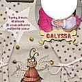 Faire part de naissance calyssa