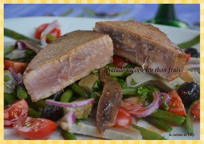 salade niçoise au thon frais