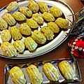 Madeleines salees fromage ail fines herbes - asperge