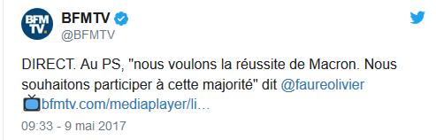 tweet faure