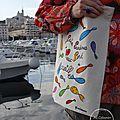 Tote-Bag Les Petites Sardines du Vieux-Port de Marseille