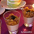 Verrine de foie gras à la mangue