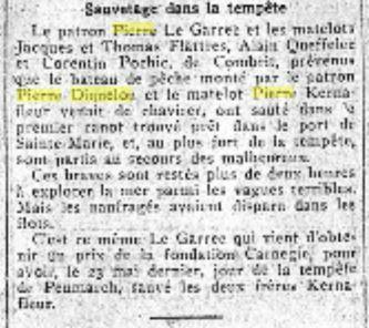 1926 Pierre Diquelou décès en Mer_2