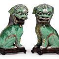 Kangxi period & 19th century biscuit-glazed famille verte @ christie's. chinese export art , 25 january 2011, new york
