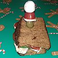 Croque monsieur (grinch) de noël version mademoiselle