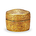 A parcel-gilt wooden box and cover, liao dynasty, 907-1125