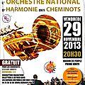 Concert - orchestre national d'harmonie des cheminots