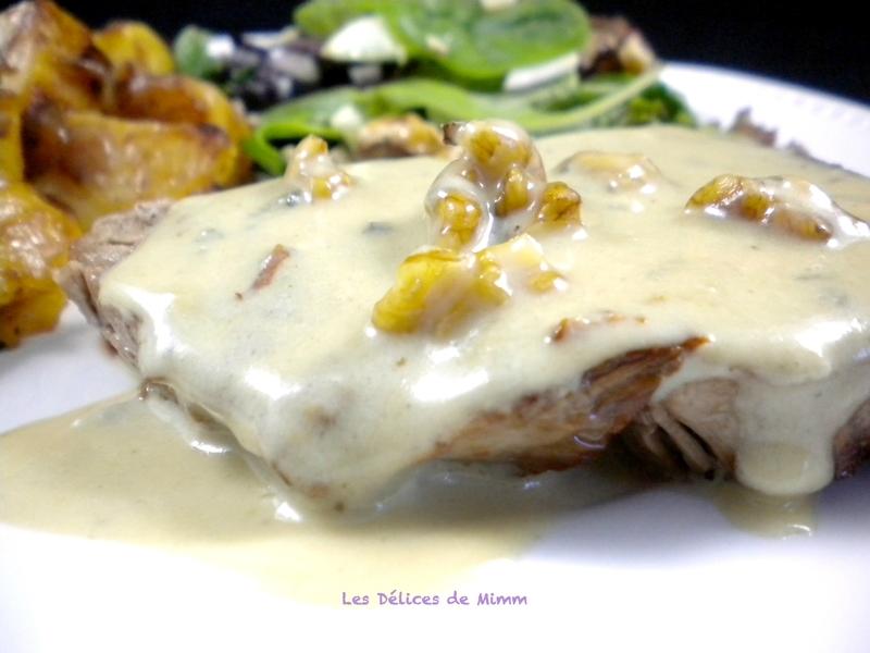 Pavé de bœuf, sauce au roquefort et aux noix 3