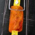 Tallulah - 100 x 30 cm - Acrylique - Pastels à l'huile