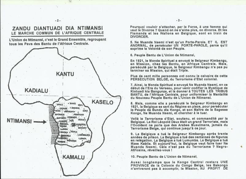 A MES FRERES BANTU DE L'AFRIQUE CENTRALE b