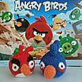 Amigurumi angry birds au crochet