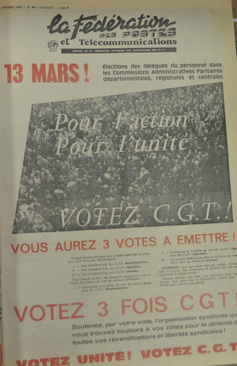 1968 Pour l'action , pour l'unité