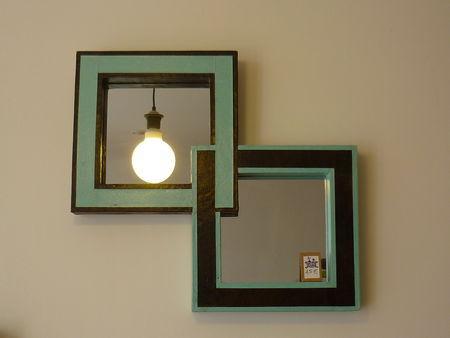 Cadre miroir en carton