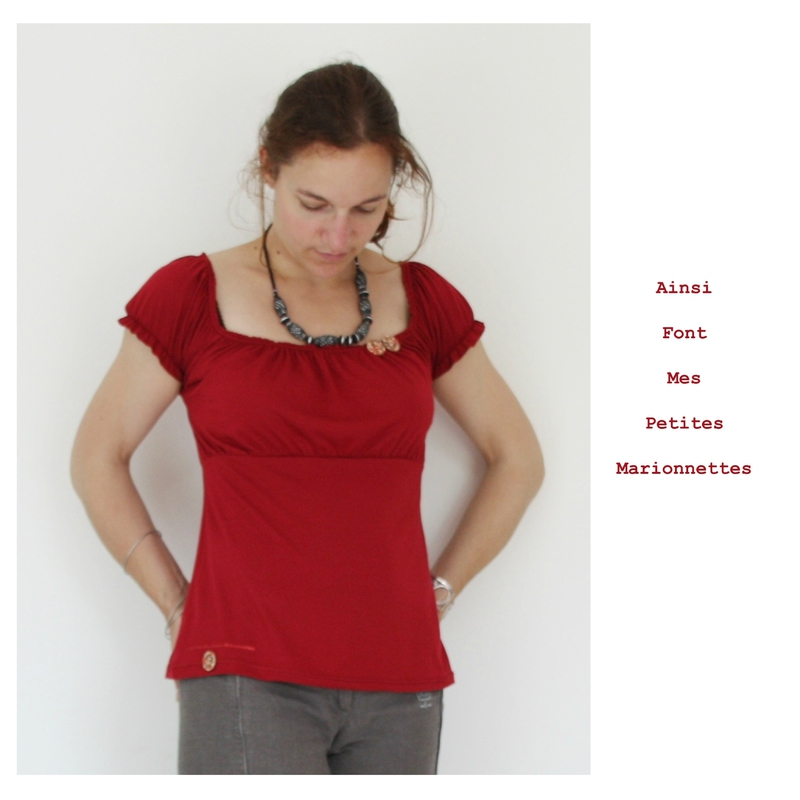 top froncee rouge 5