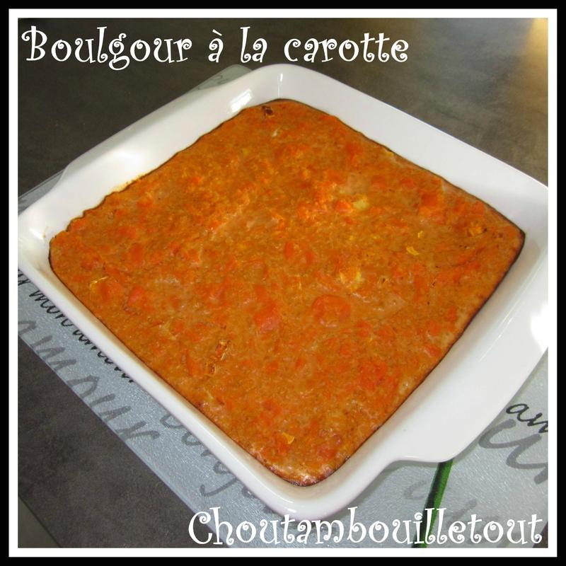 Boulgour carotte
