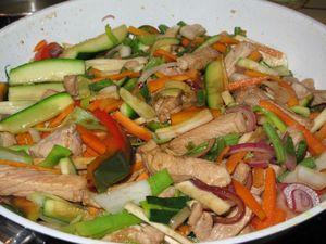 Sauté de porc aux légumes à la Chinoise 013