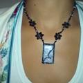 collier perles pendentif en fimo