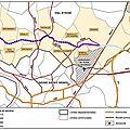 La carte des communes traversées par le projet bip