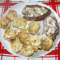 Rôti de boeuf sauce béarnaise et coeurs d'artichauts