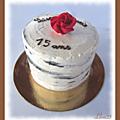 Gâteau façon écorce de bouleau, à la crème au beurre