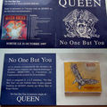 Queen no one but you livret promo France
