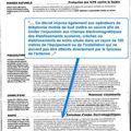 Journal de france 2 & antennes de téléphonie mobiles