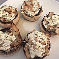 Champignon au fromage ail et fine herbe
