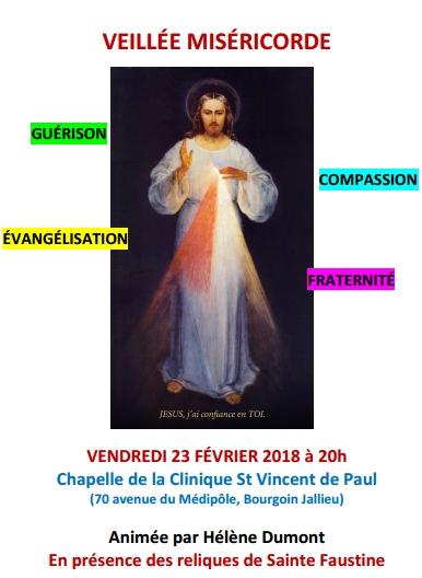 Veillée Miséricorde 23 Février chez les Petites Soeurs des Maternités Catholiques