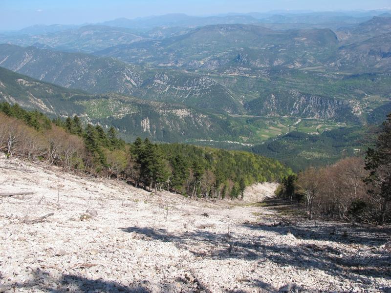 combe avalancheuse, Mont Ventoux