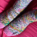 Mes chaussettes feu d'artifice - speckled space socks