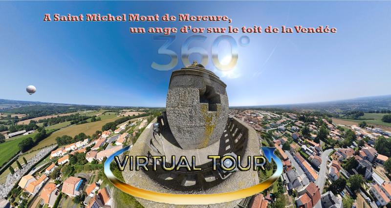 A Saint Michel Mont de Mercure, un ange d'or sur le toit de la Vendée