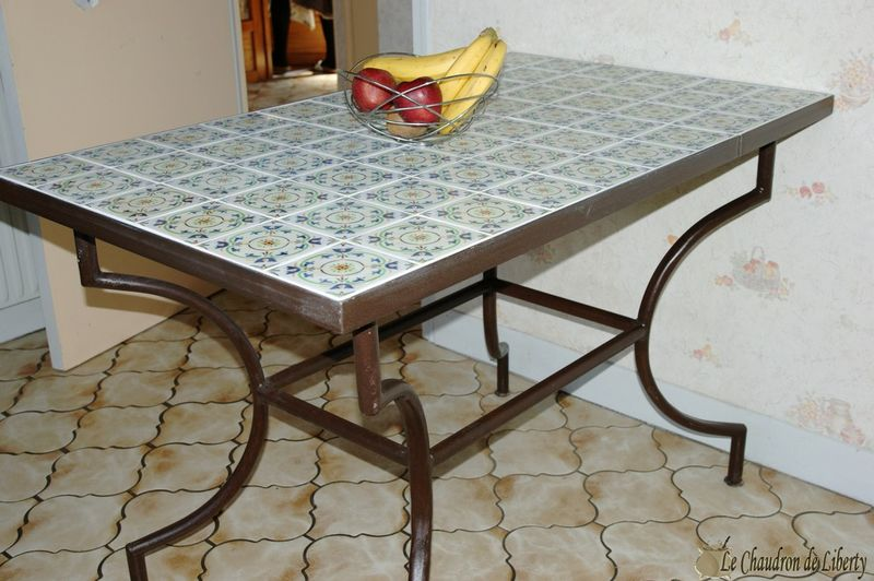 table carrelée