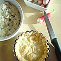 Tartelettes à la brousse et aux radis