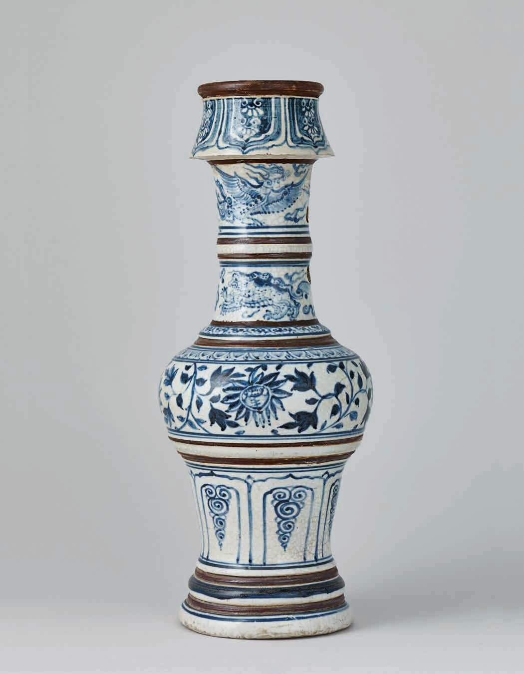 Blue and White Lamp Stand, Lê Dynasty 15th–16th c