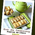 Duo de mini financiers (citron & pépites de chocolat) au thermomix ou pas