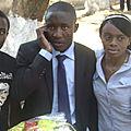 Avec mes frères, Gloire et Lauriane RIZIKI, avant la défense