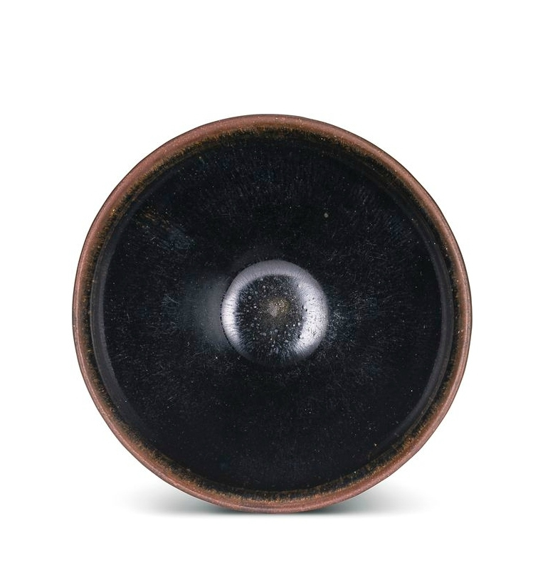 A 'Jian' black-glazed 'temmoku' tea bowl, Song Dynasty